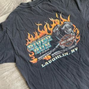 Vintage '98 Harley Davidson Laughlin River Run tee